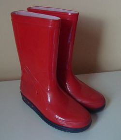 Red Rain Boots For Kids