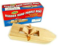Rubber-band-paddle-boat