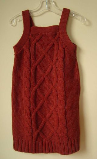 Sweater-dress-maroon