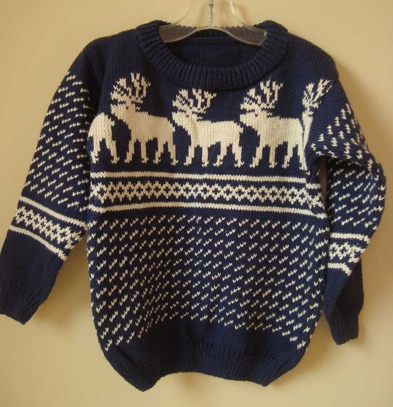 Navy-moose-sweater