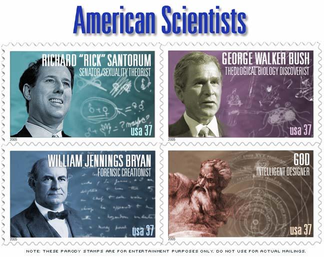 scientist stamp parody